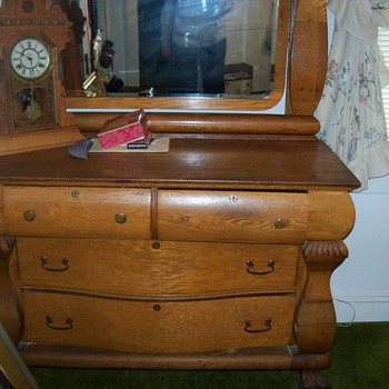Antique Oak Dresser/Mirror @1880's - Furniture