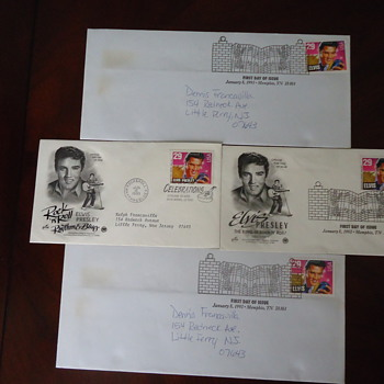 ELVIS PRESLEY FIRST DAY OF ISSUE ..WITH STAMPS.. - Stamps