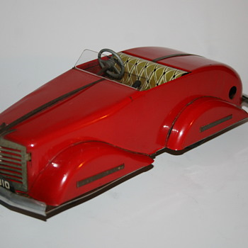 Gunthermann sport car streamline wind up toy - Model Cars