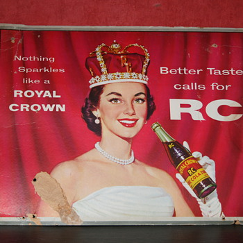 Royal crown cola cardboard - Signs