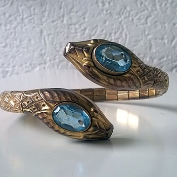 Andreas Daub, Pforzheim Germany Art Deco Style Bracelet Thrift Shop Find $1.00 - Costume Jewelry