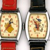 1947 Ingersoll Disney Character Watch Set Louie, Snow White, Danny, & Little Pig