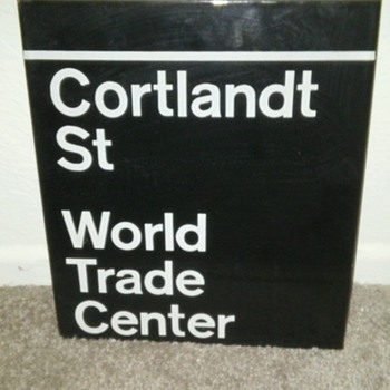 WTC Sign collected in 1976