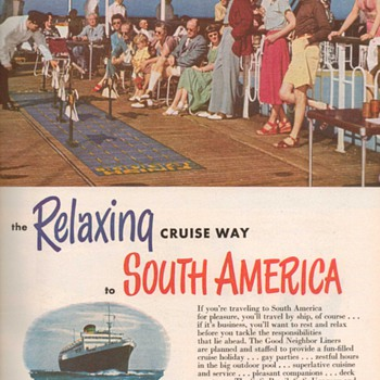 1951 - Moore McCormack Cruise Lines Advertisement