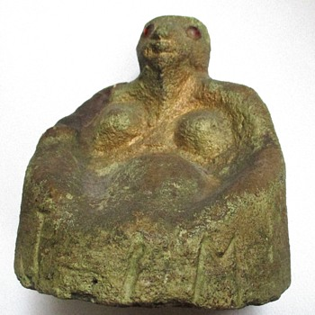 Memphis, TN Antique African-American Folk Art Sculpture  of a Pregnant Woman