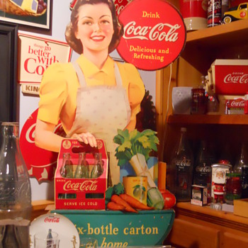 1940 3-D cutout Coca-Cola Display