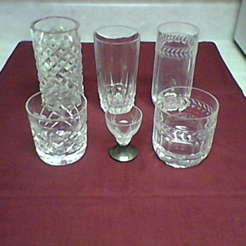 WATERFORD AND VILLE ROY & BACH CRYSTAL GLASSES