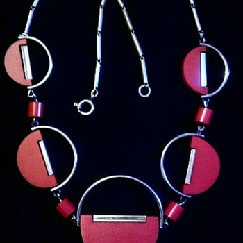 Red German necklace - Costume Jewelry