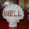 shell milkglass clamshell gas pump globe