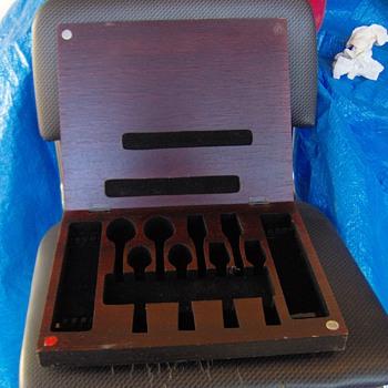 Old Handcarved Box&Antique Strange Flatware Box Salesman Sample Maybe