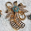 PHYLLIS ABSTRACT BROOCH &amp; EARRINGS