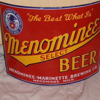 Old Michigan porcelain beer sign - Breweriana