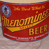 Old Michigan porcelain beer sign