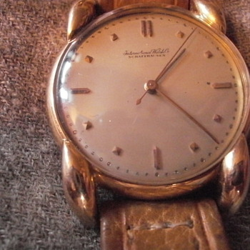 Father&#039;s antique IWC 18 karat gold watch