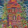 #9 ~ 1970's San Francisco Hippie Psychedelic House Needlepoint