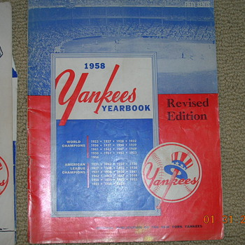 Yankees year books!!!