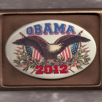 Limited Edition Political Belt Buckle with Pinback Button - Medals Pins and Badges