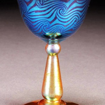 Durand King Tut Coupe c.1925 - Art Glass