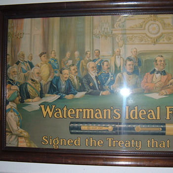 Dynamite Watermans Pens sign! - Advertising