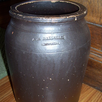 Stoneware jar