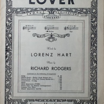 &quot;Lover&quot; Sheet Music - Paper