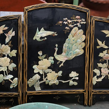 Tabletop Screen with MOP Inlay - Asian