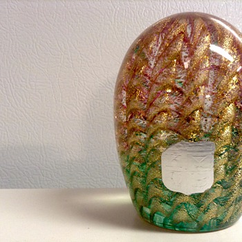 1960's-70s Barovier and Toso Glass Paper Weight  - Art Glass