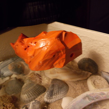 orange/red mineral.