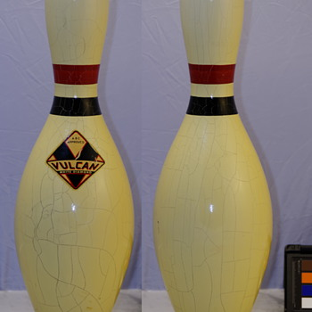 Vulcan Corp. White Diamond Bowling Pin, White Finish