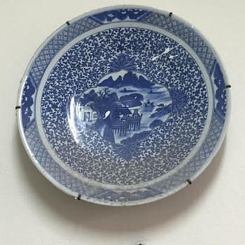 Blue Poceline Plate  - China and Dinnerware