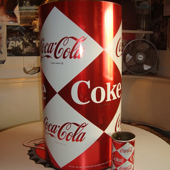 1960's LARGE Diamond Coca-Cola Can - Coca-Cola