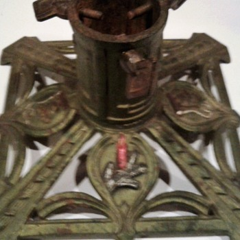 Art Deco  Iron Christmas Stand - Christmas