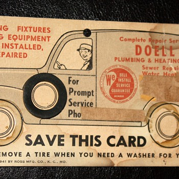Plumbing &amp; Heating Interactive Trade Sign - 1941 - Advertising