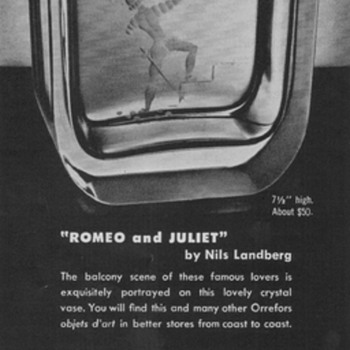 1952 Orrefors Crystal Advertisement