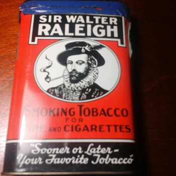 Sir Walter Raleigh pocket tin - Tobacciana