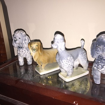 Zsolnay porcelain doggies