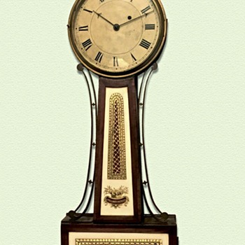 "Willard School Patent Timepiece ""Banjo Clock"" (c.1815-20) - Clocks"
