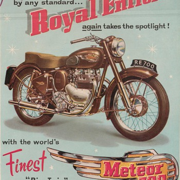1954 Royal Enfield Motorcycle Advertisement - Advertising