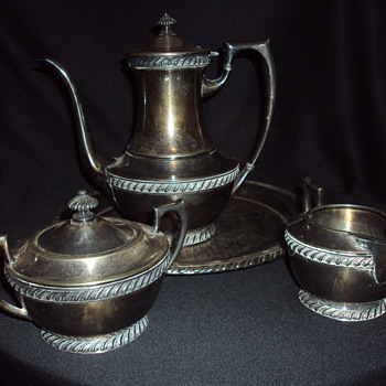 My wifes silver tea set.