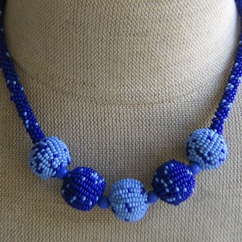 1920's-30's home-craft beaded necklace