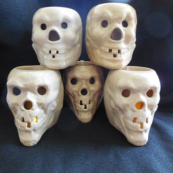 3 Tepco Pottery Skull Mugs found at the Flea Market on Sunday