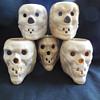 3 Tepco Pottery Skull Mugs found at the Flea Market on Sunday