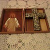 VINTAGE BIBLE BOX AND CROSS