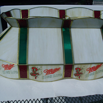 Miller High Life Stained Glass Pool Table light