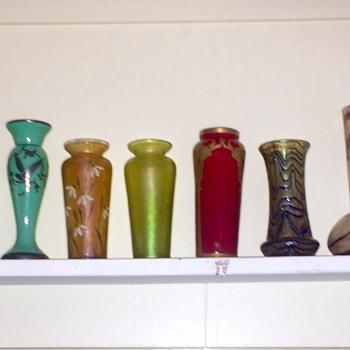 Nouveau Bohemian Legras Kralik Vases  - Art Glass