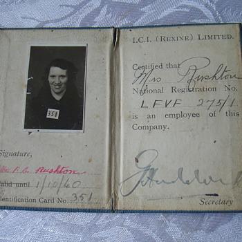 I D card 1940