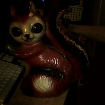 "Red ""Demon"" Squirrel Bank"