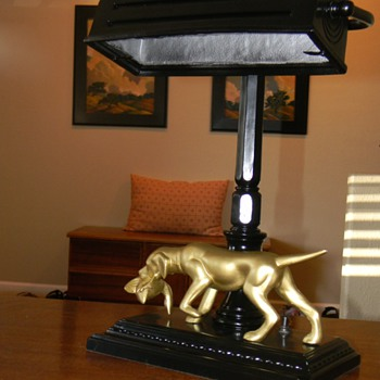 Pointer Dog Lamp