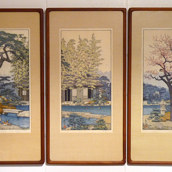 The Garden of the Three Friends by Toshi Yoshida (featuring The Three Friends of Winter)