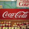 Coca Cola Porcelain Sign with Rolled Ends